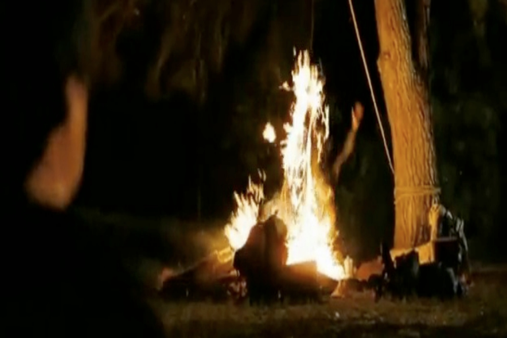 Amanda's death via fire in Friday the 13th