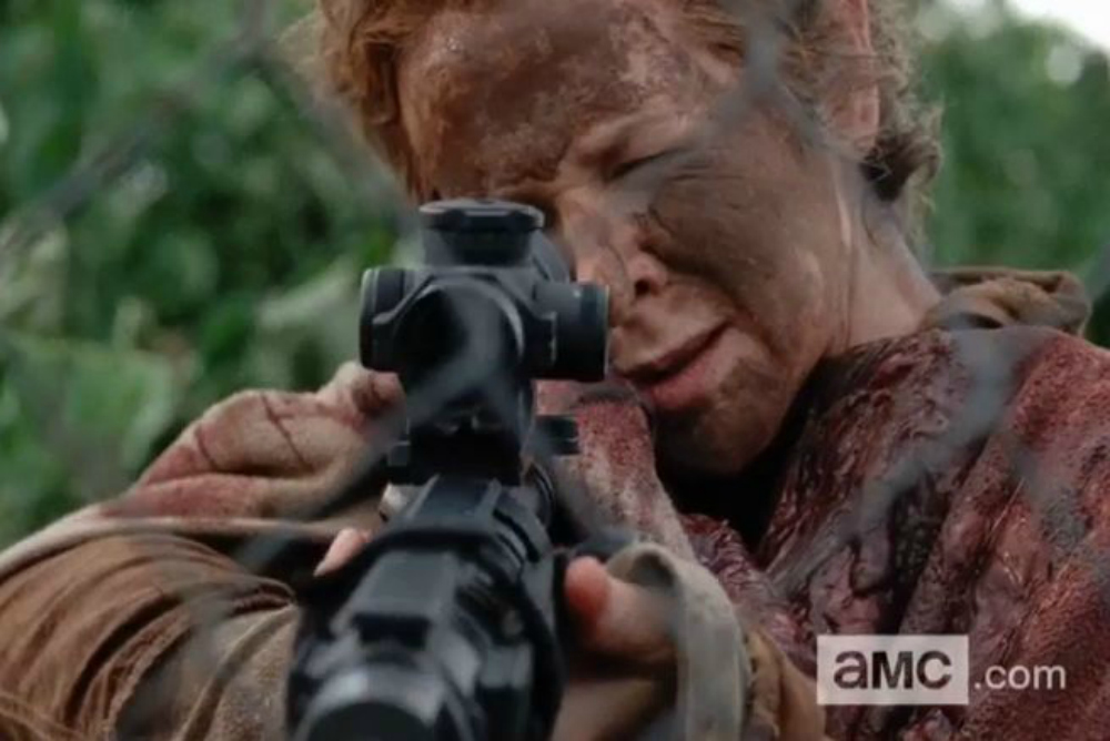 1. The Walking Deada, Carol with a gun