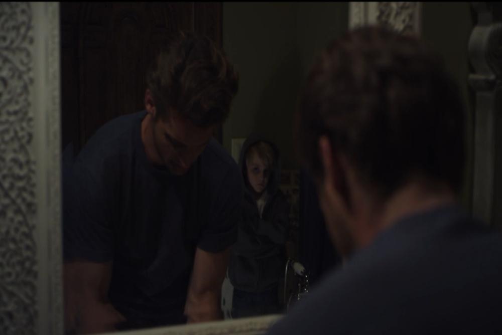4. Silent Retreat kid in mirror