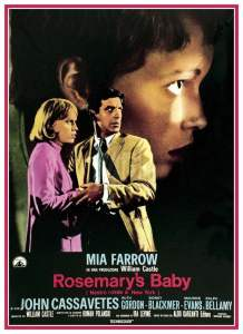 "Poster for the movie ""Rosemary's Baby - Nastro rosso a New York"""