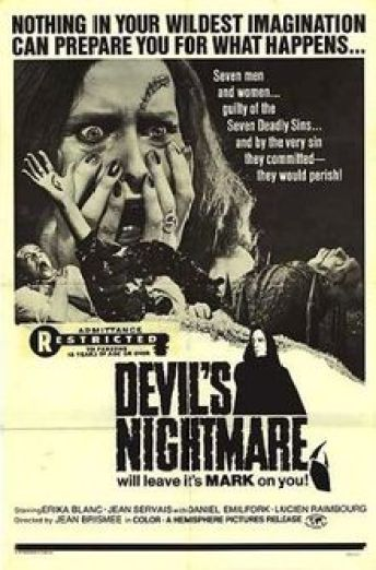Poster for Devil's Nightmare.