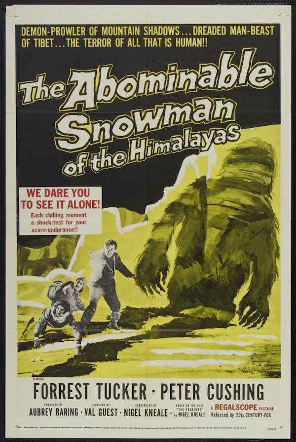 The Abominable Snowman movie poster 2