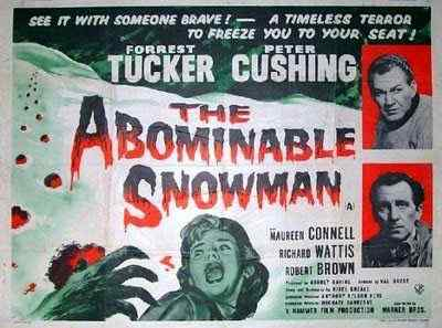 The Abominable Snowman movie poster