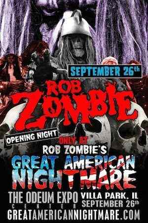 Rob Zombie's Great American Nightmare Chicago poster