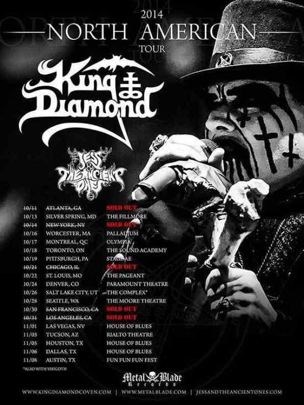 King Diamond North American Tour poster