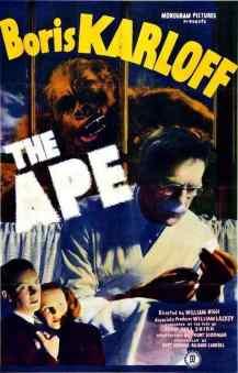 The Ape movie poster