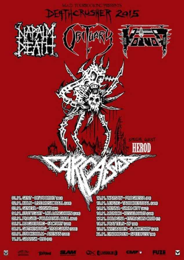 voivod deathcrusher 15 tour