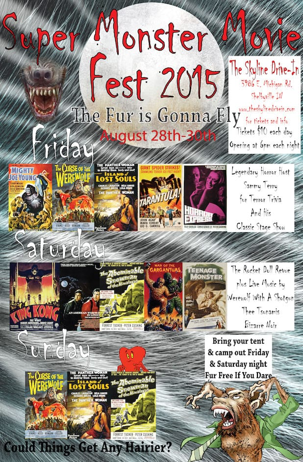 Super monster movie fest 2015 this weekend horror society for Rtu time table 4 th sem 2015