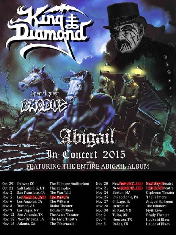 King Diamond Abigail 2015 tour post2