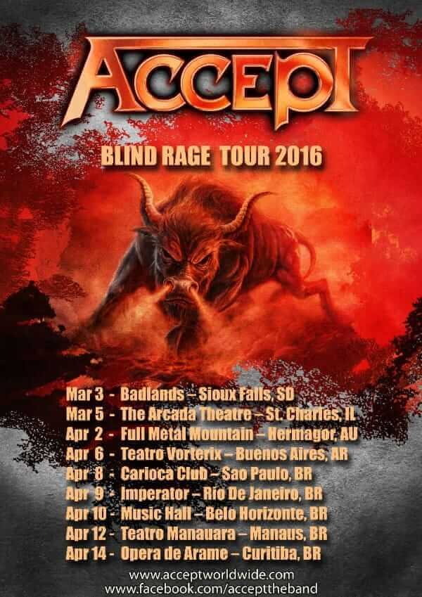 Accept Blind Rage tour post