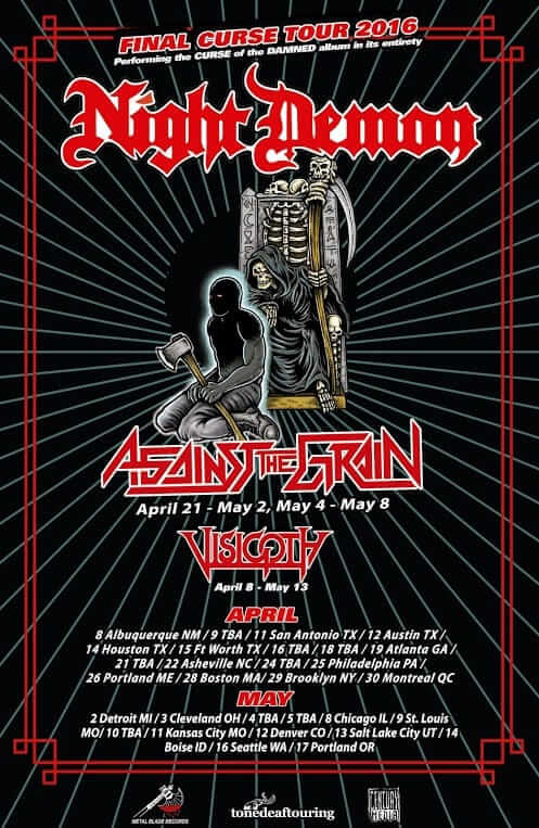 Visigoth night demon tour post