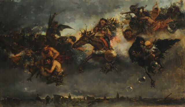 Walpurgis Night - Mariano Barbasan Lagueruela 1887