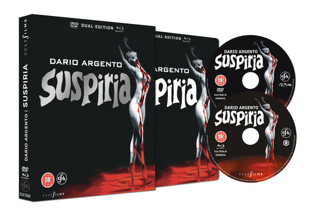 SUSPIRIA dual format special edition unleashed by CultFilms in the UK