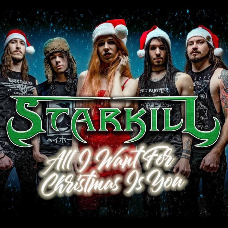"STARKILL Wrecks the Halls with Melodic Metal Cover of ""All I Want for Christmas is You."""
