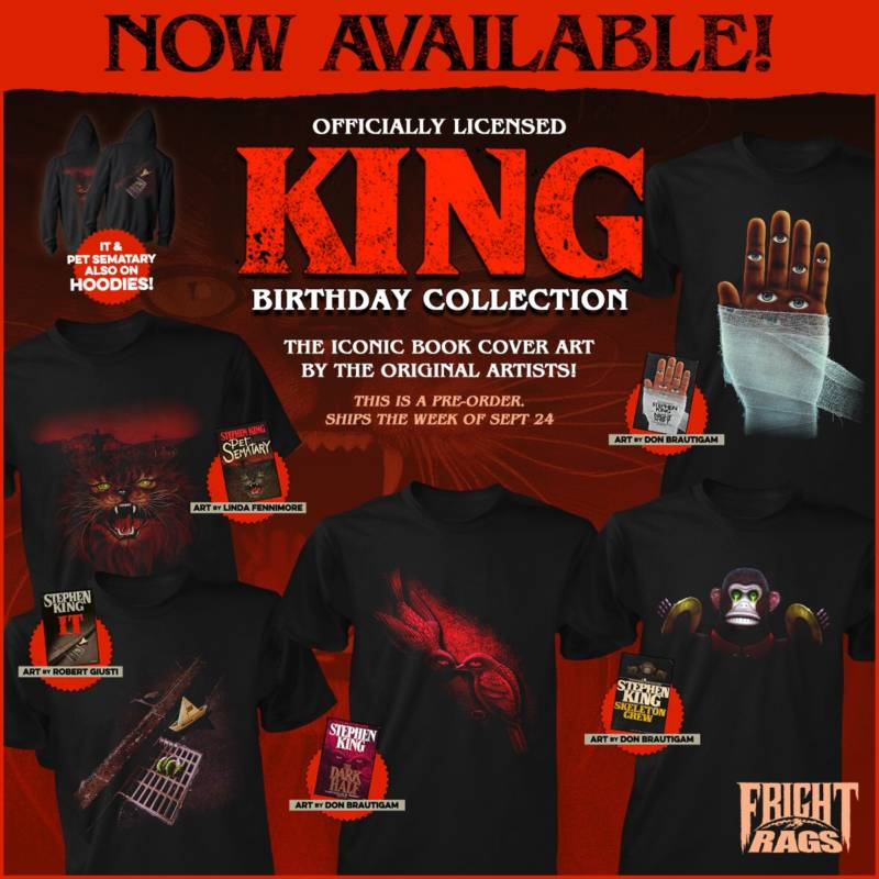 Stephen King, Trick 'r Treat, & more kick off Fright-Rags