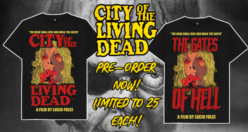 Officially licensed City of the Living Dead/Gates of Hell Shirts From Cover Your Corpse   Horror Society