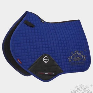 Horse Cleaning ProSport Close Contact Saddle Pad Benetton Blue And Gold Logo