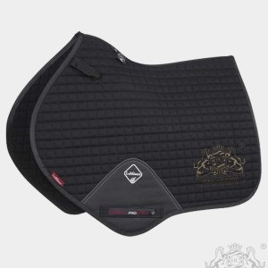 Horse Cleaning ProSport Close Contact Saddle Pad Black And Gold Logo