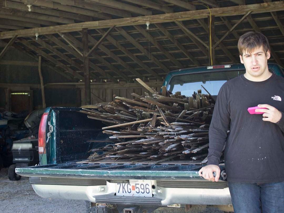 lath in truck
