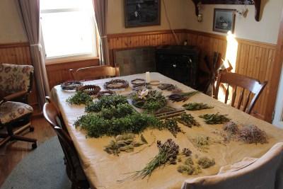 Dining room table/ floral workshop