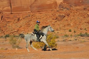 Bev Gray and JollySickleat the Moab Canyons Pioneer - 3 Best Conditions