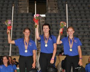 Endurance Young Rider Team Gold, USA Southeast: Cassandra Roberts, Heleen deBeer, Taylor White (Waltenberry) Brant Gamma Photography