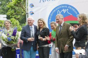Karin Van Den Bos receives her award