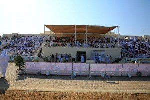 The Al Rahba racecourse in Muscat was packed for the   race