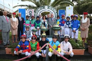 Roma Ippodromo Capannelle 8 maggio 2016 Premio Dubai International Arabian Race 2016 David Morisson con Vulcain Du Clos