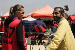 Heather Reynolds and HH Sheikh Mohammed bin Rashid Al Maktoum