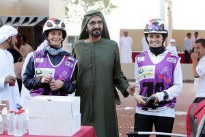 HH Sheikh Mohammed bin Rashid Al Maktoum with riders