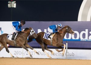 Handassa under Jim Crowley wins the Al Maktoum Challenge