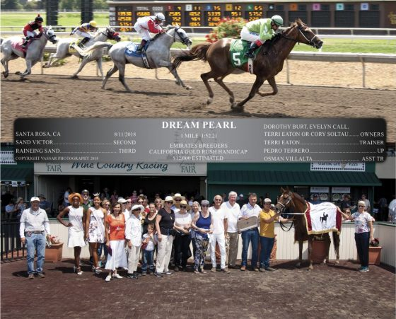 Dream Pearl and associates and Emirates Breeders Gold Rush Handicap blanket