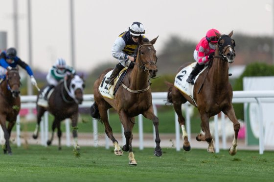 Hollie Doyle and True Self (12) get the better of Channel Maker to win the Neom