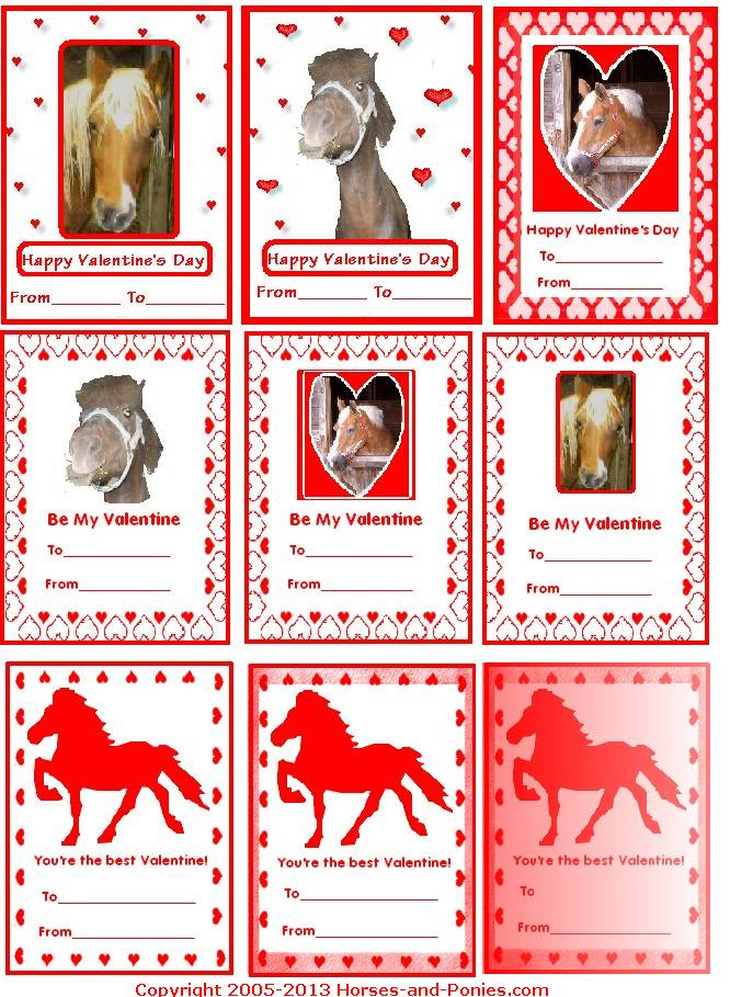 Valentines Horses And Ponies