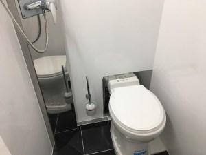 WC à réservoir d'eaux noires