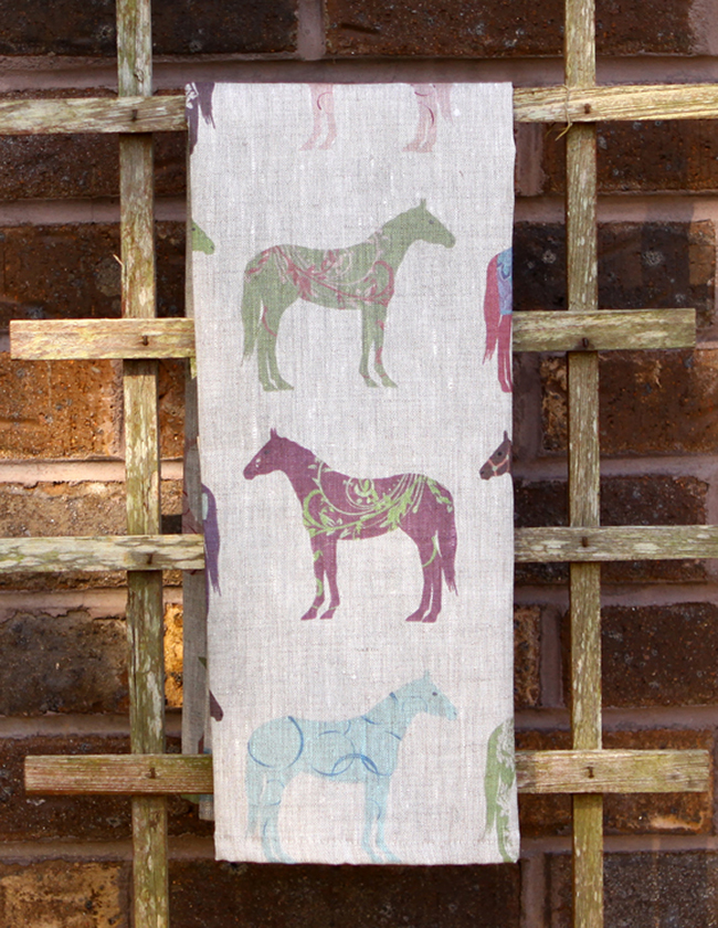 Colorful Horse Tea Towels For The Home Horses Amp Heels