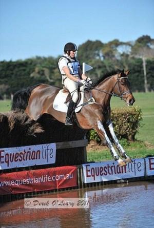 Australian team member Christine Bates riding Delago
