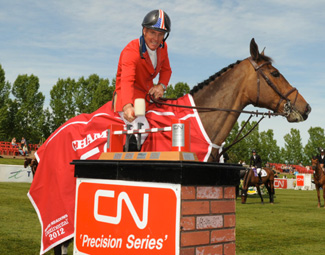 Rich Fellers and Flexible after winning the CN Grand Prix at Spruce Meadows.