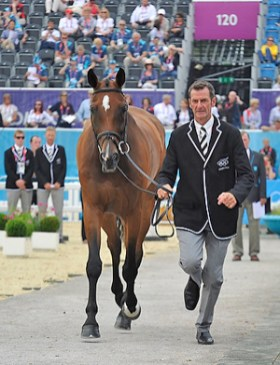 New Zealand's Mark Todd and Campino at the first horse inspection for Eventing at Greenwich Park.