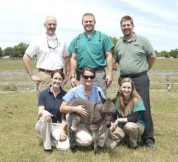 Emma's team of caregivers – top, l to r: Dr. Fred Caldwell, Zach Knight, Billy Fletcher, bottom, l to r: Dr. Elizabeth Yorke, Cece Smith, Arielle Corbette.