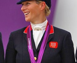Zara Phillips with her 2012 Olympic eventing team silver medal.