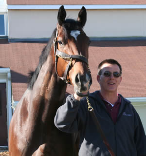 Dr Dean Richardson and Barbaro.