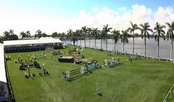 The competition field at The Mar-a-Lago Club on the Intracoastal Waterway.