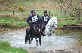 Para rider Sarah Takle and Tommy won gold. They're pictured with escort Lisa Franks and Coedeneirin Solo.