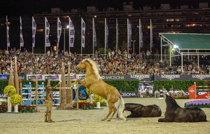 Santi Serra with his horses.