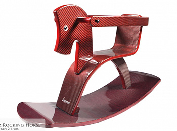 Revozport's carbon fiber rocking horse.