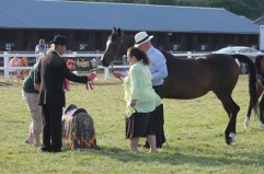Princess Alia presents the Princess Muna saddle of honour to the SH Sabrina family group.