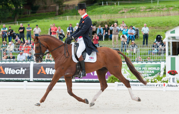 Great Britain's William Fox-Pitt and Chilli Morning are in the lead after the first day of Eventing Dressage at the Alltech FEI World Equestrian Games.