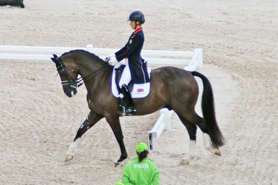 Charlotte Dujardin and Vaelgro led the rankings to seal silver for the British team.